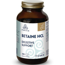 Purica  Betaine HCL - Digestive Support 180 Vegan Capsules    815555000449
