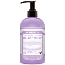 Dr. Bronner's 4-in-1 Sugar Lavender Organic Pump Soap 355 ml | 018787950012