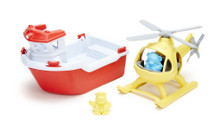 Green Toys Rescue Boat & Helicopter | 816409011550