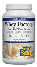Natural Factors Whey Factors Grass Fed Whey Protein French Vanilla 1 kg | 068958029269