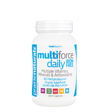 Prairie Naturals Multi-Force Daily Iron-Free Multiple Vitamins, Minerals & Antioxidants 120 Capsules | 067953004592