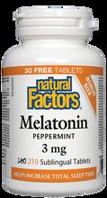 Natural Factors Melatonin 3mg Peppermint | 068958087016