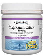 Natural Factors Stress-Relax Magnesium Citrate 300mg Tropical Fruit 250g | 068958035420