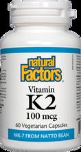 Natural Factors Vitamin K2 100 mcg Vegetarian Capsules | 068958012940