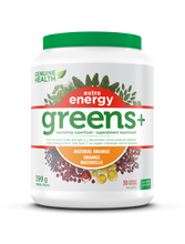 Genuine Health Greens+ Extra Energy 399 g Natural Orange | 624777002670