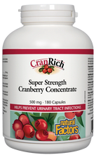 Natural Factors CranRich Super Strength Cranberry Concentrate 500mg 180 Capsules | 068958045139