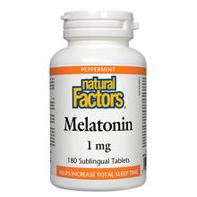 Natural Factors Melatonin 1mg - 180 Sublingual Tablets | 068958027142