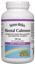 Natural Factors Stress-Relax Mental Calmness 100mg 120 Chewable Tablets | 068958028378