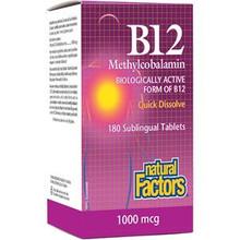 Natural Factors B12 Methylcobalamin 1000 mcg | 068958012438