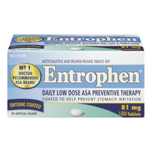 Entrophen Daily Low Dose 81mg ASA Preventative Therapy 180 Enteric Coated Tablets | 625972011337