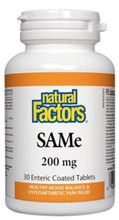 Natural Factors SAMe IsoActive 200mg Enteric Coated Tablets | 068958027074