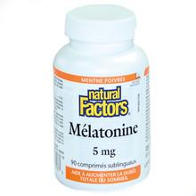 Natural Factors Melatonin 5mg Peppermint Sublingual Tablets | 068958027173