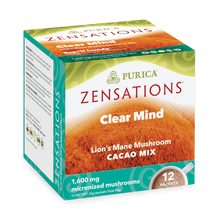Purica Zensations Mushroom Cacao Mix - Clear Mind Lion's Mane 12 Packets |