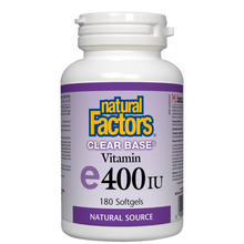 Natural Factors Clear Base Vitamin E 400 IU Natural Source Softgels   068958014456