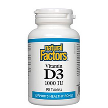 Natural Factors Vitamin D3 1000 IU Tablets | 068958010502