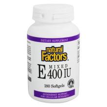 Natural Factors Mixed Vitamin E 400 IU Natural Source   068958014227