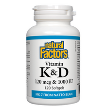 Natural Factors Vitamin K and D 120 mcg and 1000 IU 120 Softgels | 068958012933