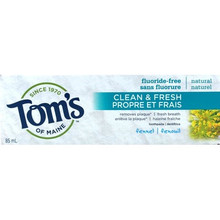 Tom's of Maine Clean and Fresh Fluoride-Free Toothpaste Fennel 85 ml  | 077326102404