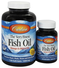 Carlson Norwegian Very Finest Fish Oil 1000mg Soft Gels 120+30 Soft Gels Lemon | 088395016349