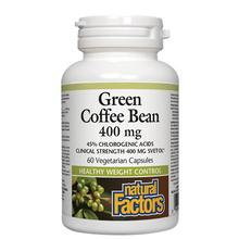 Natural Factors Green Coffee Bean 400mg Vegetarian Capsules | 068958041155