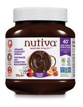 Nutiva Organic Hazelnut Spread Dark 369 grams | 692752107573