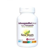 New Roots Herbal Ashwagandha Extract 500 mg 60 vegetable capsules | 628747121156