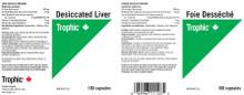 Trophic Desiccated Liver 180 Capsules | 069967111235 | Label