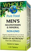 Natural Factors Whole Earth and Sea Men's Multivitamin and Mineral 120 Tablets| 068958355221