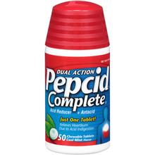 Pepcid Complete Dual Action Mint Tablets 50 chewable tablets | 00064541313623