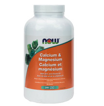 Now Foods Calcium & Magnesium with Vitamin D and Zinc 240 Softgels | 733739812520