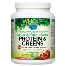 Natural Factors Whole Earth and Sea Fermented Organic Protein and Greens Chocolate 710 grams | 068958355351