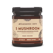 Harmonic Arts 5 Mushroom Concentrated Mushroom Powder Organic Gut Health - Immune Support - 100g  | 2572 | 842815025720