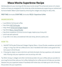 Organika Maca & Cacao Organic Powder - Recipe