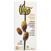 Theo Organic and Fair Trade 45% Milk Chocolate Salted Almond | 874492002510