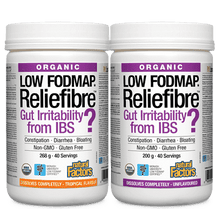 Natural Factors Organic Reliefibre Low FODMAP Tropical Flavour 268 & 200 grams | 068958049922