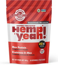 Manitoba Harvest Organic Hemp Yeah! Max Protein Hemp Protein Powder - Unsweetened 908g | 697658691065