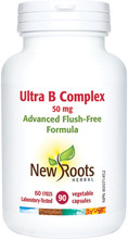New Roots Herbal Ultra B Complex 50mg - 90 Vegetable Capsules | 628747108935