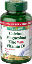 Nature's Bounty Calcium Magnesium Zinc with Vitamin D3 | 029537175753