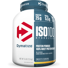 Dymatize Nutrition ISO 100 Hydrolyzed Whey Protein Isolate Smooth Banana