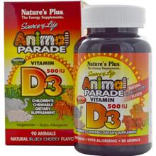 Nature's Plus Animal Parade Vitamin D3 500IU Chews | 807205107844