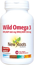 New Roots Herbal Wild Omega 3 EPA 660mg DHA 330mg 120 Fish Softgels | 628747112802