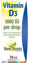 New Roots Herbal Vitamin D3 1000IU per Drop 30mL | 628747201711