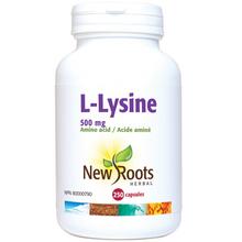 New Roots Herbal L-Lysine 500mg 250 capsules | 628747110198