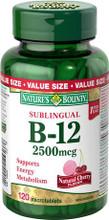 Nature's Bounty Quick Dissolve Vitamin B12 2500 mcg | 029537040914