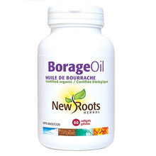 New Roots Herbal Borage Oil Certified Organic 60 soft gels | 628747108829