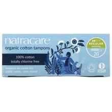 Natracare Organic Cotton Tampons Regular 20 Count | 782126001009