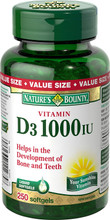 Nature's Bounty Vitamin D3 1000 IU | 029537112758