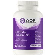 AOR 5-HTP Extra Strength 100mg 60 Vegi Caps | UPC: 624917040296 | SKU: AOR-1194-001
