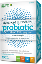 Genuine Health Advanced Gut Health Probiotic 50 Billion CFU - Extra Strength 30 Vegan Capsules | 624777008733