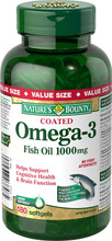 Nature's Bounty Coated Omega 3 Fish Oil 1000 mg | 029537038485